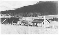 """RGS snowsheds and section house at Lizard Head Pass.<br /> RGS  Lizard Head, CO  1952<br /> Postcard caption: """"R. G. S. RY. SNOW SHEDS / LIZARD HEAD PASS / Ophir, Colo.""""<br /> Thanks to Don Bergman for additional information."""