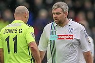Steve McNulty (Tranmere Rovers) during the Vanarama National League match between Tranmere Rovers and Southport at Prenton Park, Birkenhead, England on 6 February 2016. Photo by Mark P Doherty.