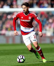 Gaston Ramirez of Middlesbrough - Mandatory by-line: Robbie Stephenson/JMP - 19/03/2017 - FOOTBALL - Riverside Stadium - Middlesbrough, England - Middlesbrough v Manchester United - Premier League