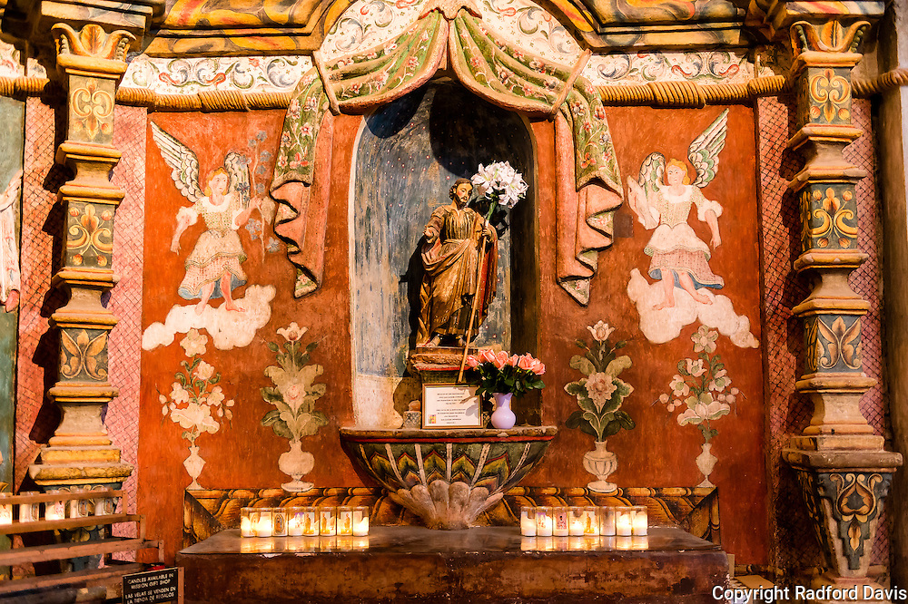 San Xavier Mission at Christmas time
