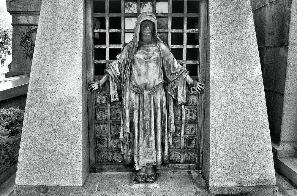 Père Lachaise Cemetery in Paris, France.