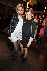 HON.SOPHIA HESKETH and SARA PARKER-BOWLES at a party hosted by Mulberry to celebrate the Autumn Winter 2009 Collection held at Mulberry, 41/42 New Bond Street, London on 23rd February 2009.