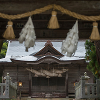 The Tamawakasu-mikoto Shrine is the main shrine of the Oki Islands. It is located on Dogo, the largest island of the Oki Islands which is an archipelago in the Sea of Japan, Shimane Prefecture, Japan.