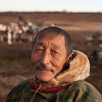 Sept 2009 Yamal Peninsula, Siberia, Russia - global warming impacts story on the Nenet people , reindeer herders in the Yamal Peninsula  - Vladimir Akatetey