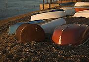 Dinghies at River Deben, Bawdsey Quay, Suffolk, England