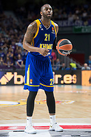 Khimki Moscow James Anderson during Turkish Airlines Euroleague match between Real Madrid and Khimki Moscow at Wizink Center in Madrid, Spain. November 02, 2017. (ALTERPHOTOS/Borja B.Hojas)