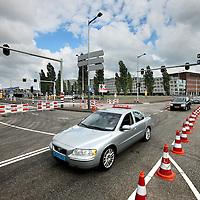 Nederland, Amsterdam , 15 juli 2014.<br /> Afsluiting Piet Hein tunnel zorgt voor verwarring door onduidelijke markeringen.<br /> Foto:Jean-Pierre Jans