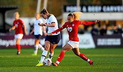 Ebony Salmon of Bristol City tackles Hanna Godfrey of Tottenham Hotspur Women- Mandatory by-line: Nizaam Jones/JMP - 27/10/2019 - FOOTBALL - Stoke Gifford Stadium - Bristol, England - Bristol City Women v Tottenham Hotspur Women - Barclays FA Women's Super League