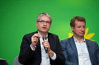 DEU, Deutschland, Germany, Berlin, 24.11.2018: Sven Giegold (MEP), Yannick Jadot (MEP). Council of the European Green Party (EGP council) at Deutsche Telekom Representative Office.
