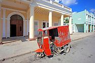 Three wheeled truck in Cienfuegos, Cuba.