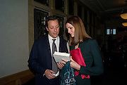 TOBY ROWLAND; PLUM SYKES, Book launch for the book by Julian Fellowes 'Past Imperfect.' Cadogan Hall. Sloane Terrace. London. 4 November 2008 *** Local Caption *** -DO NOT ARCHIVE -Copyright Photograph by Dafydd Jones. 248 Clapham Rd. London SW9 0PZ. Tel 0207 820 0771. www.dafjones.com
