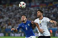 Alessandro Florenzi-Jonas Hector<br /> Paris 02-07-2016 Parc des Princes Football Euro2016 Germany - Italy/ Germania - Italia<br /> Round of 4, Foto Matteo Gribaudi/Image Sport / Insidefoto