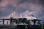 F-14 Tomcat, VF-2, on cat