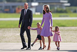 File photo dated 21/07/2017 of The Duke and Duchess of Cambridge and their children, Prince George and Princess Charlotte as the royal couple will be waiting on tenterhooks to see if their new baby is a boy or a girl Ð as they do not know their childÕs gender.