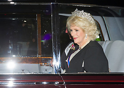 December 4, 2017 - London, London, United Kingdom - Image licensed to i-Images Picture Agency. 05/12/2017. London, United Kingdom. The Prince of Wales and Duchess of Cornwall arriving at The Queen's Diplomatic Reception at Buckingham Palace in London. (Credit Image: © Gustavo Valiente/i-Images via ZUMA Press)