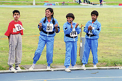 Young spectators with disabilities taking part in Mini games sports event held at Stoke Mandeville Stadium,