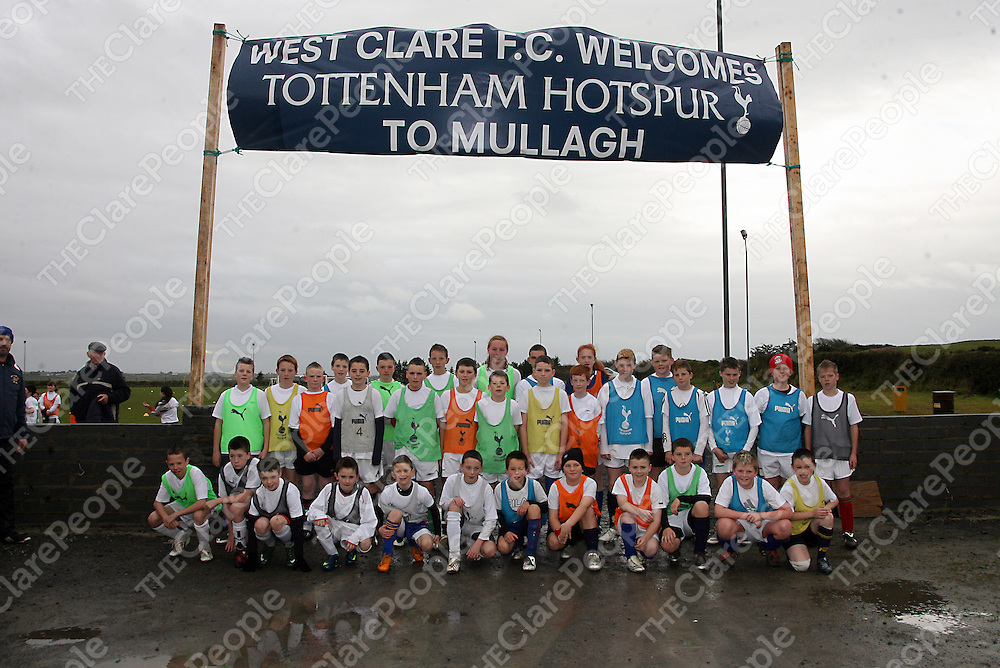 Kids from all over the county took part in a coaching session in Mullagh by visitors Tottenham Hotspurs organised by West Clare F.C at the weekend.<br /> Photograph by Yvonne Vaughan