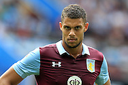 Rudy Gestede of Aston Villa looks on. EFL Skybet championship match, Aston Villa v Rotherham Utd at Villa Park in Birmingham, The Midlands on Saturday 13th August 2016.<br /> pic by Andrew Orchard, Andrew Orchard sports photography.