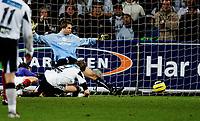 Oslo Tippeliga 23. oktober 2005, VÅLERENGA vs ROSENBORG, Frode johnsen setter inn 2-0 målet, FOTO KURT PEDERSEN