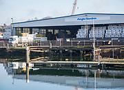 Anglo-Norden timber warehouse Ipswich Wet Dock waterside redevelopment, Ipswich, Suffolk, England, Uk