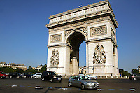 Arc de Triomphe de l'Étoile or the Arch of Triumph - is one of the most famous monuments in Paris. It stands in the centre of the Place Charles de Gaulle, originally named Place de l'Étoile, at the western end of the Champs-Élysées.