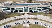 Aerial exterior of the Illinois Tollway Authority headquarter at 2700 Ogden Ave in Downers Grove on Thursday, April 5, 2018.