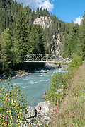 Gorge of river Inn, near Scuol, Engadin, Switzerland