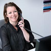 Nederland,  Hoofddorp, 6 mei 2014.<br /> Secretaresse van Raad van Bestuur Maaike van de Capelle.<br /> Foto:Jean-Pierre Jans