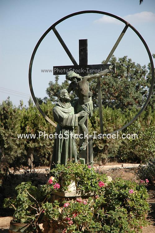 Israel, Galilee, Jezreel Valley, mount Tabor, Roman Catholic church of the Transfiguration.