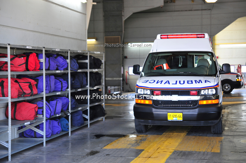 Israel, Ben-Gurion international Airport Rescue and Fire Fighting Services Ambulance