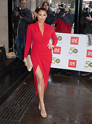 Jessica Wright attends the Tric Awards Arrivals at the Grosvenor House Hotel in London on 12 March 2019.<br /><br />12 March 2019.<br /><br />Please byline: Vantagenews.com