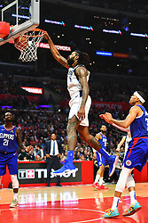 December 21, 2018 - Los Angeles, CA, U.S. - LOS ANGELES, CA - DECEMBER 20: Dallas Mavericks Center DeAndre Jordan (6) dunks the ball during a NBA game between the Dallas Mavericks and the Los Angeles Clippers on December 20, 2018 at STAPLES Center in Los Angeles, CA. (Photo by Brian Rothmuller/Icon Sportswire) (Credit Image: © Brian Rothmuller/Icon SMI via ZUMA Press)