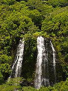 View of Opaekaa Falls, near Lihue, Kauai, Hawaii, USA