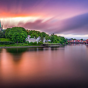 www.aziznasutiphotography.com                                           Picture has been taken in Trondheim. You can see Nidarosdomen (cathedral) and gamlebybro (old town bridge) in the picture.