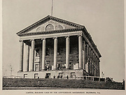 """CAPITOL BUILDING USED BY THE CONFEDERATE GOVERNMENT, RICHMOND, VA from The American Civil War book and Grant album : """"art immortelles"""" : a portfolio of half-tone reproductions from rare and costly photographs designed to perpetuate the memory of General Ulysses S. Grant, depicting scenes and incidents in connection with the Civil War Published  in Boston and New York by W. H. Allen in 1894"""