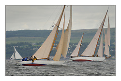 .Mikado and Bell adventure beating to Rothesay during the Tuesday race...This the largest gathering of classic yachts designed by William Fife returned to their birth place on the Clyde to participate in the 2nd Fife Regatta. 22 Yachts from around the world participated in the event which honoured the skills of Yacht Designer Wm Fife, and his yard in Fairlie, Scotland...FAO Picture Desk..Marc Turner / PFM Pictures