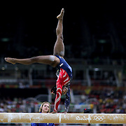 Gymnastics - Olympics: Day 2   Simone Biles #391 of the United States performing her routine on the Balance Beam watched by her coach Aimee Boorman during the Artistic Gymnastics Women's Team Qualification round at the Rio Olympic Arena on August 7, 2016 in Rio de Janeiro, Brazil. (Photo by Tim Clayton/Corbis via Getty Images)