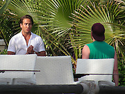 EXCLUSIVE<br /> TOWIE's Elliott Wright and James Lock come to blows during heated argument in front of their on-off girlfriends at a pool party in Marbella<br /> <br /> best friends on the show and often open up to each other about their relationships.<br /> But it looked as though the bromance between TOWIE's Elliott Wright and James 'Lockie' Lock was over when they came to blows during a heated argument at a pool party in Marbella.<br /> The close friends were seen yelling at each other in front of Elliott's ex Chloe Sims and Lockie's long-term girlfriend Danielle Armstrong. <br /> <br /> Photo shows: James Lock talks to one of the producers<br /> ©Exclusivepix Media