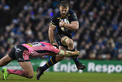 December 16, 2017 - Dublin, Ireland - Sean O'Brien of Leinster team in action challenged by Henry Slade of Exeter Chiefs during the European Rugby Champions Cup rugby match at Aviva Stadium...On Saturday, 16 December 2017, in Dublin, Ireland. (Credit Image: © Artur Widak/NurPhoto via ZUMA Press)
