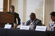 "Ruben Anthony delivers a response during the panel discussion ""The Role of Business in Advancing Racial Equity in Dane County"" during the Cap Times Idea Fest 2018 at the Pyle Center in Madison, Wisconsin, Saturday, Sept. 29, 2018."