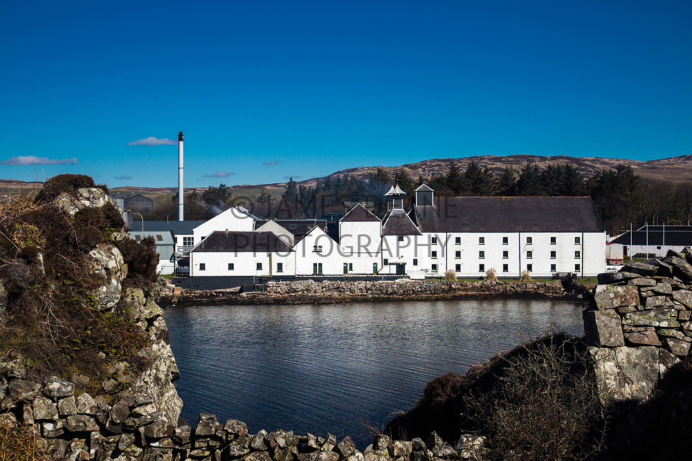 Laphroaig Distillery from across the 'hollow'