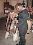 Chris Eubank. A Fashion Show to Celebrate the Treasures of South Africa. The European Launch of the Nelson Mandela foundation. © Copyright Photograph by Dafydd Jones 66 Stockwell Park Rd. London SW9 0DA Tel 020 7733 0108 www.dafjones.com