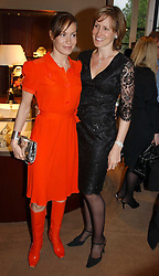 Left to right, sisters TARA PALMER-TOMKINSON and SANTA SEBAG-MONTEFIORE at a party to celebrate the publication of 'Last Voyage of The Valentina' by Santa Montefiore at Asprey, 169 New Bond Street, London W1 on 12th April 2005.<br /><br />NON EXCLUSIVE - WORLD RIGHTS