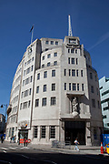 Recently renovated BBC Broadcasting House is the headquarters and registered office of the BBC in Portland Place and Langham Place, London. Broadcasting House is home to BBC Radio 3, BBC Radio 4, and BBC Radio 7 and also houses the BBC Radio Theatre, where music and speech programmes (typically comedy for BBC Radio 4) are recorded in front of a studio audience.