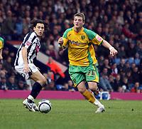 Photo: Mark Stephenson.<br /> West Bromwich Albion v Norwich City. Coca Cola Championship. 27/10/2007.Norwich's Michael Spillane goes past Brom's Robert Koren
