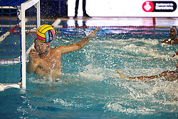 July 24, 2018 - Barcelona, Spain - Daniel Lopez (Spain) during the match between Spain and Greece, corresponding to the women group stage of the European Water Polo Championship, on 19th July, 2018, in Barcelona, Spain. (Credit Image: © Joan Valls/NurPhoto via ZUMA Press)