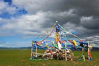 Mongolie, Province du Khentii, Ovo, monument bouddhiste // Mongolia, Khentii province, Ovo, buddhist monument