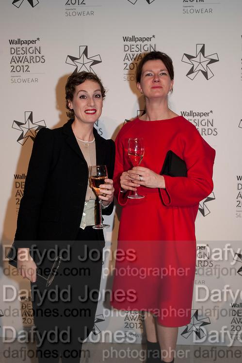 BIANCA LUZI; RAISSA VERHAEGHE,  ( RAF SIMONS) Wallpaper Design Awards 2012. 10 Trinity Square<br /> London,  11 January 2011.