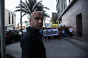 Mel Tillekeratne, the organizer of SheDoes movement, participates SheDoes Koreatown tent protest on May 26th, 2018 at Koreatown in Los Angeles, California.