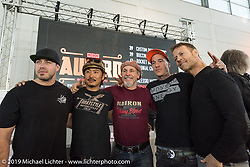 Motor Bike Expo MBE award Judges Zach Ness, Go Takamine, Michael Lichter, Danny Schneider and Rocco Siffredi. Verona, Italy. Saturday January 20, 2018. Photography ©2018 Alberto Castagendi for Michael Lichter Photography